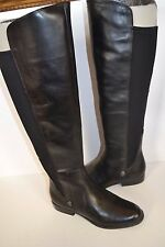 Anne Klein New Citygurl Black LEATHER OVER KNEE Womens BOOTS Size 7 M MSRP $179