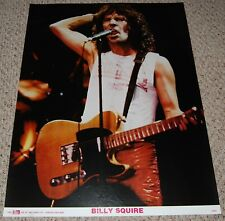 BILLY SQUIER Emotions In Motion Concert Fender Telecaster Guitar Poster 1982 UK