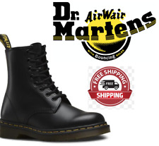 AUTHENTIC 100% Dr.Martens 1460 Black Smooth Unisex 8 Lace Up Boots FREEPOST