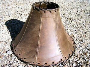 Southwest Leather table Lamp Shade 2037