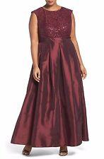 Chetta B Sequin Lace & Taffeta Gown (Plus Size)  (size 16W)