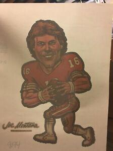 Vintage & Original 1981 Joe Montana Football T-Shirt Transfer