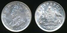 Australia, 1927 Sixpence, 6d, George V (Silver) - almost Uncirculated