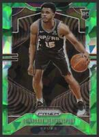 2019-20 Panini Prizm Prizms GREEN ICE 285 Quinndary Weatherspoon RC Rookie Spurs