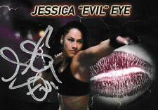 "Jessica ""Evil"" Eye Signed & Kissed Trading Card #1 MMA ROC Bellator UFC Fighter"