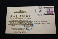 NAVAL COVER 1942 HAND CANCEL 1ST DAY POST CENSOR MARK USS HADDOCK (SS-231) (3901