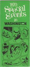 1970 Events In Washington Visitors Guide Brochure