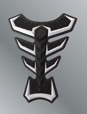 Protege depósito 3D silicona blanca negro pegatina Kawasaki Z800 Z1000 ZX10R