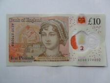 LUCKY £10 NOTE JANE AUSTEN TEN POUND ANNIVERSARY BIRTHDAY 27 02 02 FEBRUARY 2002