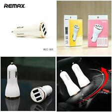 PINK COLOUR Genuine Remax DOLFIN 3 USB Port Car Charger 3.4A High Speed