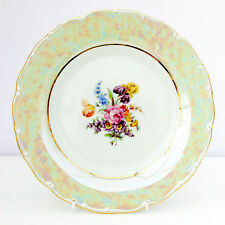 Vintage Haas & Czjzek Floral Gold Lustre Salad Plate