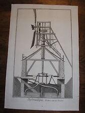 Encyclopédie DIDEROT et D'ALEMBERT planche / gravure MOULIN à vent Meudon 1776