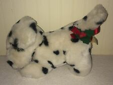 "Vintage Dalmatian Dog Plush Touch Of Holly Mistletoe 1988 12"" Stuffed Applause"
