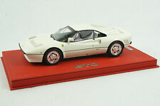 1/18 BBR FERRARI 288 GTO AVUS WHITE RED DELUXE LEATHER BASE MR