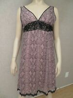Rebecca Taylor Neiman Marcus Silk Dress Sz 4 6 S New Pink Empire Waist Python