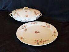 Vintage Haviland Limoges France Covered Casserole Dish Vegetable Oval Platter