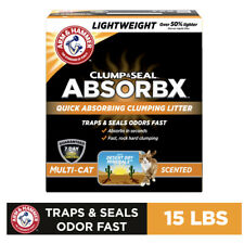 Arm And Hammer Clump And Seal Absorbx Multi-Cat Clumping Litter, 15 Lbs.