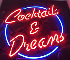 """New Cocktails And Dreams Neon Light Sign 20""""x16"""" Beer Cave Gift Lamp Artwork"""