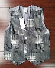 Boys Gymboree Patchwork Plaid Vest Size M New