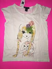 NWT GAP KIDS GAPKIDS SMALL 6-7 EASTER GRAPHIC TOP GIRL BRAIDS BOWS CAT BLING
