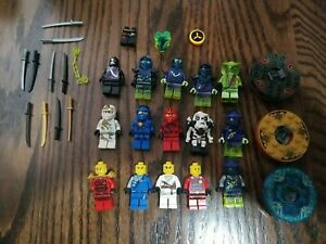 Ninjago Lego 15 Mini Figures & Weapons Accesories Lot Ninja Minifigure
