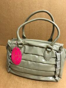 Zandra Rhodes Designer Sofia Rouch And BOWLING Ruffles Bag Gloss Green Genuine
