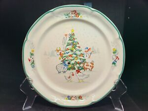 Rare International Tableworks Country Christmas #8966 Dinner Plate
