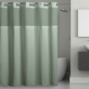 Hookless Waffle 71-Inch x 74-Inch Fabric Shower Curtain in Jade, NEW