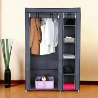 "New 67"" Portable Clothes Closet Wardrobe with Non-woven Fabric and Hanging Rod"