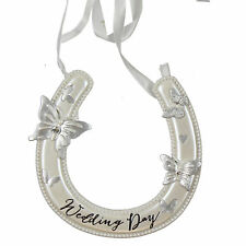 Wedding Day 'Wings of Love' Resin Horseshoe with Butterflies & Gems