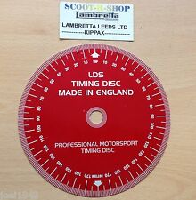 LDS CAM SHAFT IGNITION TIMING DISC. TOP QUALITY ALUMINIUM DISC. AUSTIN MORRIS