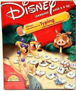 Disney's Adventures in Typing With Timon & Pumbaa - CD Rom Win 95 Macintosh NEW