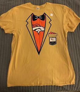 HOF Hall Fame T-Shirt Denver Broncos 2019 Gold Jacket Adult XL NFL Champ Bailey