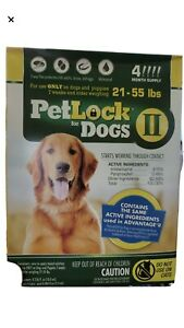 PetLock II Flea Treatment and Prevention for Dogs 21-55 LB 4 MONTH
