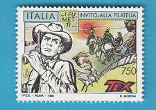 FRANCOBOLLO TEX Willer  ITALIA 1996 Lire 750 NUOVO INVITO ALLA FILATELIA FUMETTI