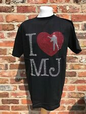 Diamante Michael Jackson I Love MJ Music Amplified Style Screen T-shirt L 42in
