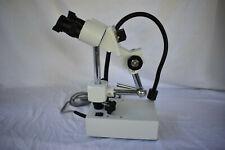 Amscope 10x Binocular Stereo Microscope On Boom Arm Stand Led Gooseneck Light