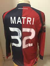 Maglia calcio Cagliari Vs Fiorentina 2009 10 N 32 Matri match worn shirt signed