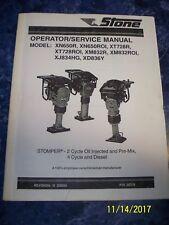 Stone Stomper Rammer Tamp Operators / Service Manual XN650R XT728R XD836Y XM832R