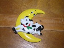 Vintage Burwood Products Plastic Cow Jumping Over the Moon Wall Hanging Plaque –