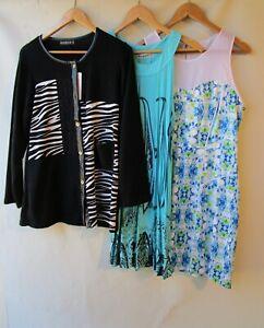 Bulk lot 3 items size 12 women's clothing tops dress mixed black white blue