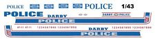 Darby Pa. Police Cruiser Decals 1/43rd Scale Slot Car Waterslide Decals