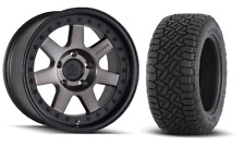 "17"" Mayhem Prodigy Dark Wheels Rims Fuel AT Tires 5x4.5 Jeep Wrangler TJ"