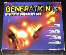 """""""GENERATION X"""" Definitive Sound Of 90's Indie 3-CD Box Set 2004 40-Tracks GREAT"""