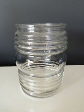 Vintage Glass Light Fixture Replacement Shade Clear Ribbed Porch Outdoor Camper