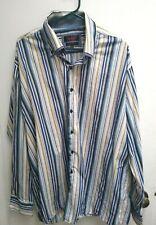 Axxess Men's Long Sleeve Striped Shirt XXXL 3XL