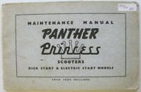 Panther Princess Scooter Kick Start Electric Start Models Owners Handbook