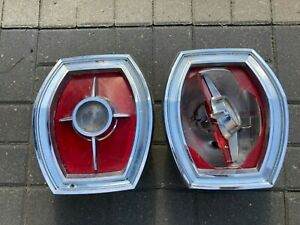 Original 1965 Ford Galaxie LTD Auto Car Tail  Back Up Lights Lens Bucket Assembl