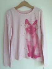 Gap Kids 8 Year Girl, Pink Cat Long sleeve top, graphic