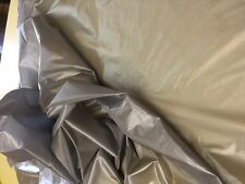 5 MTRS 124cms wide silver grey army parachute ripstop nylon material lining